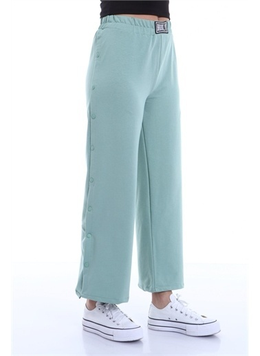 Rodi Jeans Kadın Yanı Çıtlı Bol Paça Pantolon (8002) DS21YB091238 Yeşil